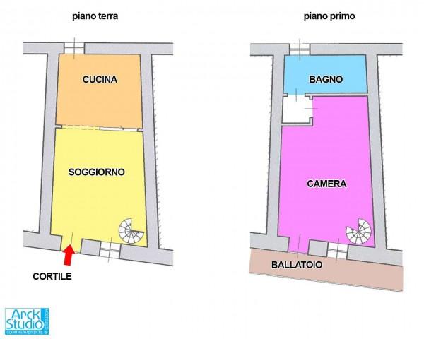 Casa indipendente in vendita a Vaprio d'Adda, Centro, Arredato, 70 mq - Foto 2