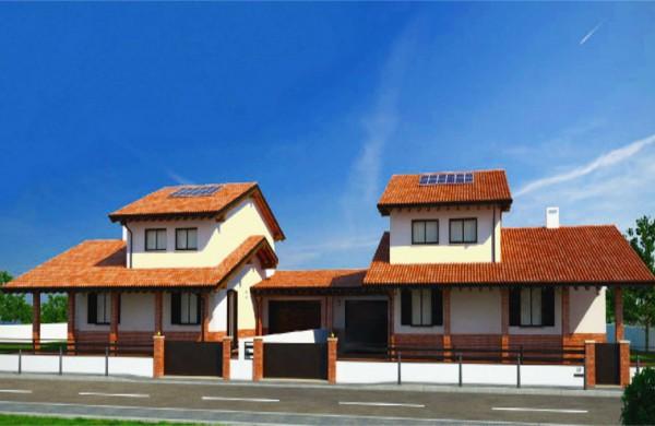 Villa in vendita a Sala Bolognese, Centro, Con giardino, 130 mq
