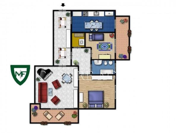 Appartamento in vendita a Induno Olona, San Cassano, Con giardino, 126 mq - Foto 2