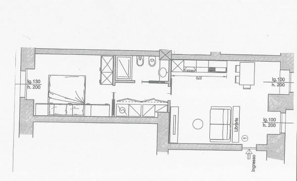 Appartamento in vendita a Milano, Sempione, Arredato, 55 mq