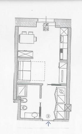 Appartamento in vendita a Milano, Sempione/castelvetro, Arredato, 38 mq