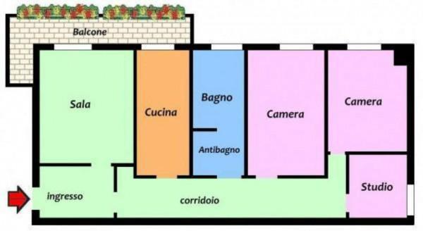 Appartamento in vendita a Milano, Corvetto, Arredato, 135 mq - Foto 34