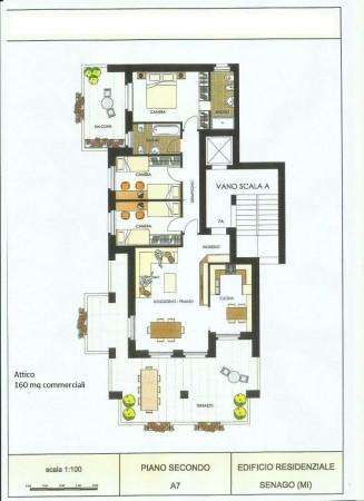 Appartamento in vendita a Senago, Centro, 158 mq