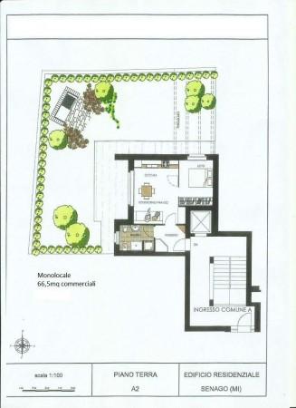 Appartamento in vendita a Senago, Con giardino, 67 mq