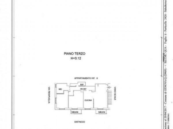 Appartamento in vendita a Genova, Adiacenze Ospedale Gaslini, 90 mq - Foto 2