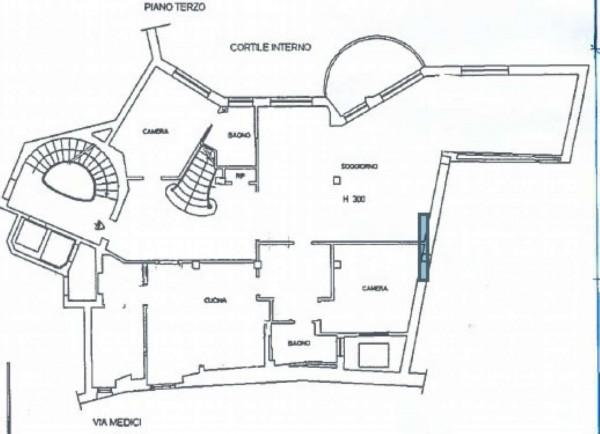 Appartamento in affitto a Milano, Cappuccio, Con giardino, 300 mq - Foto 3