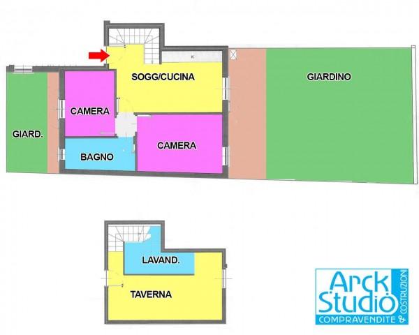 Appartamento in vendita a Casirate d'Adda, Con giardino, 92 mq - Foto 3