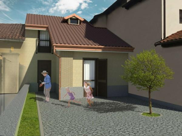 Rustico/Casale in vendita a Piobesi Torinese, Centrale, Con giardino, 85 mq