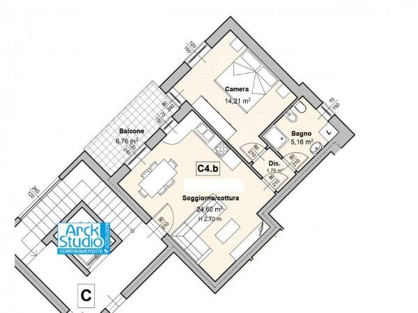 Appartamento in vendita a Cassano d'Adda, Guarnazzola, 60 mq