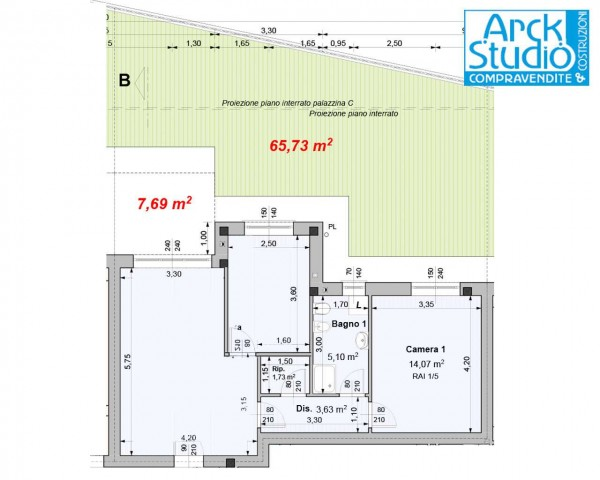 Appartamento in vendita a Cassano d'Adda, Guarnazzola, Con giardino, 77 mq