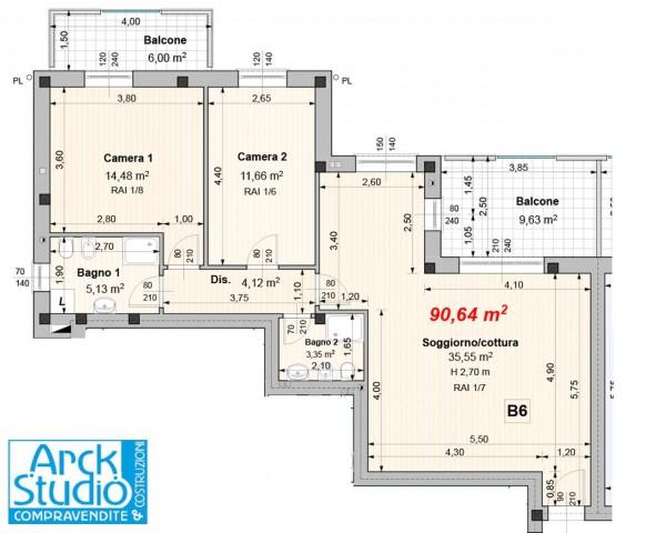 Appartamento in vendita a Cassano d'Adda, Guarnazzola, Con giardino, 99 mq