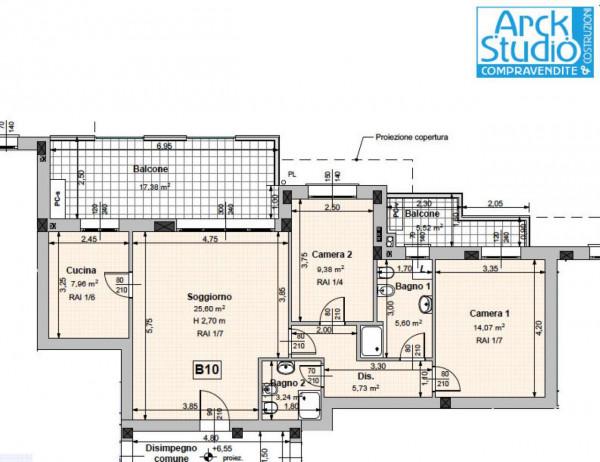 Appartamento in vendita a Cassano d'Adda, Guarnazzola, Con giardino, 100 mq