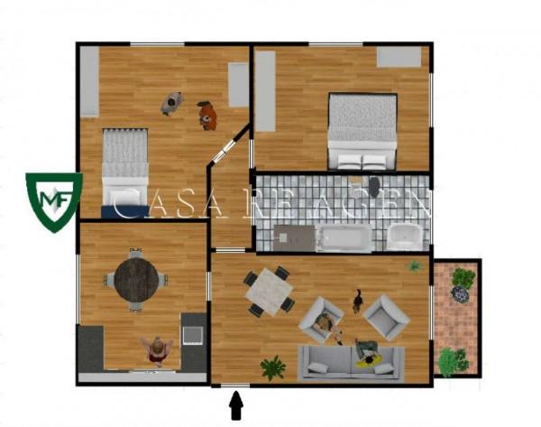Appartamento in vendita a Varese, Viale Aguggiari, Con giardino, 85 mq - Foto 2