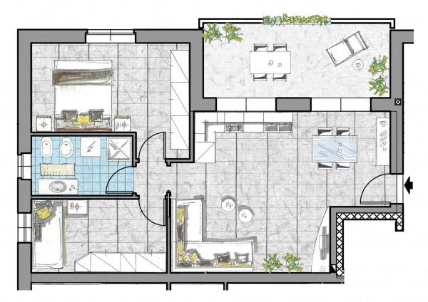 Appartamento in vendita a Cassano d'Adda, Cristo Risorto, 82 mq