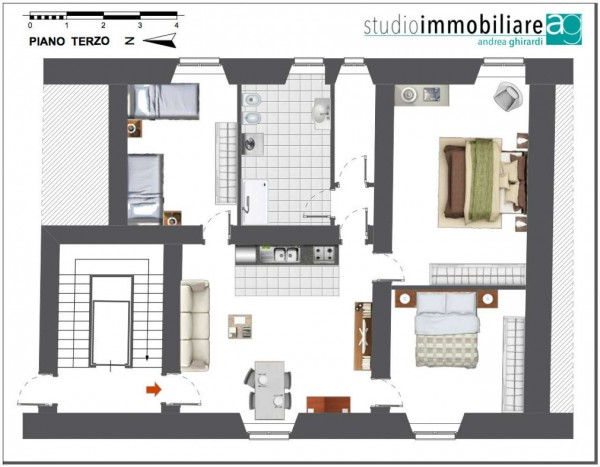Appartamento in vendita a Genova, Sestri Ponente, 110 mq - Foto 3