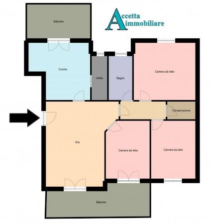 Appartamento in vendita a Taranto, Lama, Con giardino, 98 mq - Foto 2