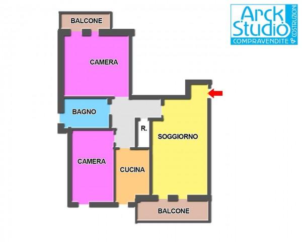 Appartamento in vendita a Cassano d'Adda, Mercato, Con giardino, 90 mq - Foto 2