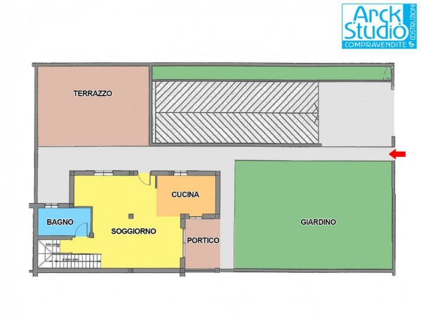 Villa in vendita a Cassano d'Adda, Cristo Risorto, Con giardino, 213 mq - Foto 3