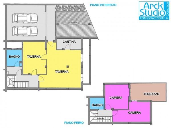 Villa in vendita a Cassano d'Adda, Cristo Risorto, Con giardino, 213 mq - Foto 2