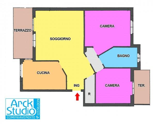 Appartamento in vendita a Cassano d'Adda, Annunciazione, Con giardino, 103 mq - Foto 3