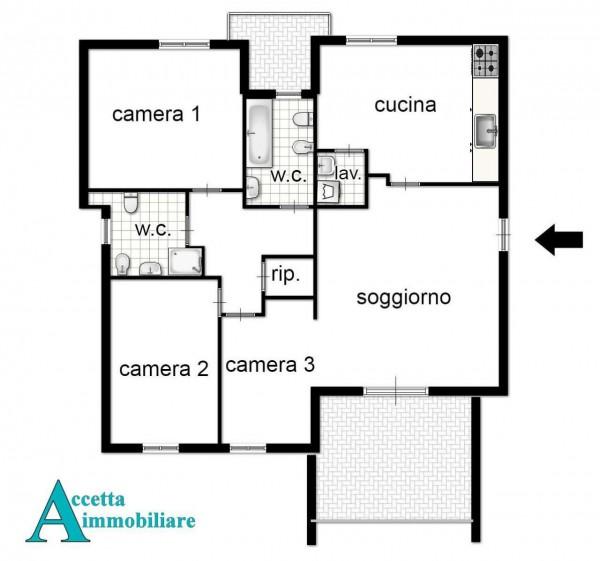 Appartamento in vendita a Taranto, Talsano, Con giardino, 122 mq - Foto 2