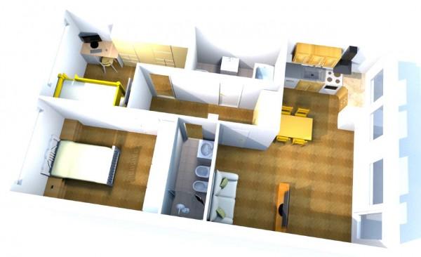 Appartamento in vendita a Milano, Metro Primaticcio, 80 mq
