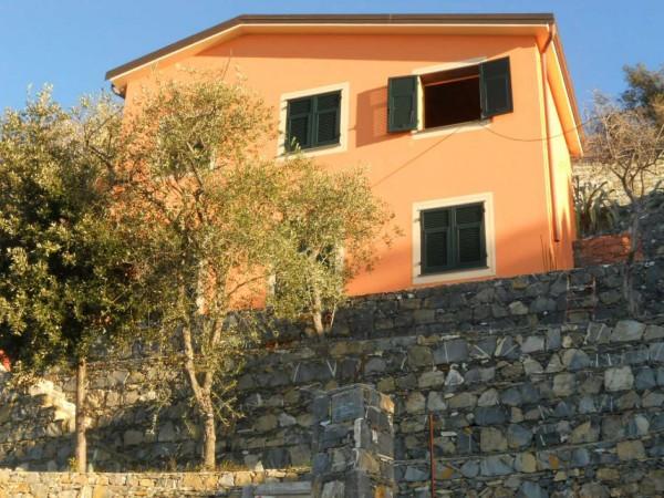Villa in vendita a Zoagli, Sant'andrea Di Rovereto, Con giardino, 130 mq