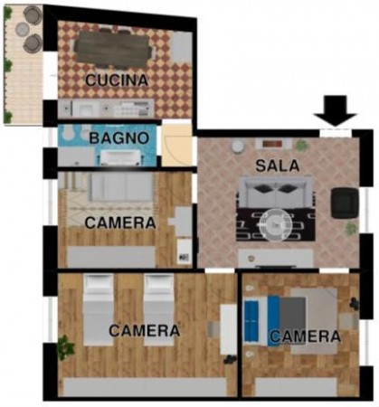 Appartamento in vendita a Lavagna, Centrale, Con giardino, 88 mq