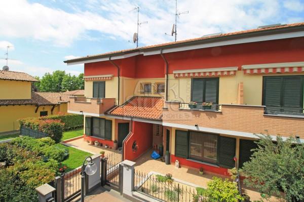 Villetta a schiera in vendita a Cassano d'Adda, Groppello, Con giardino, 152 mq