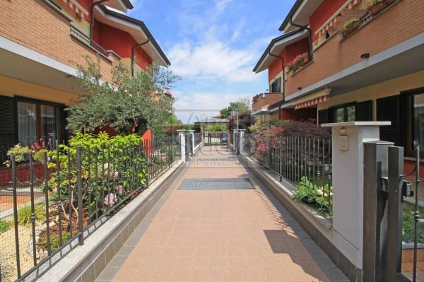 Villetta a schiera in vendita a Cassano d'Adda, Groppello, Con giardino, 152 mq - Foto 3