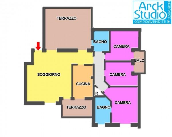 Appartamento in vendita a Cassano d'Adda, Vallette, Con giardino, 130 mq - Foto 12
