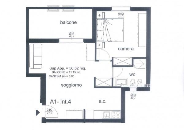 Appartamento in vendita a Roma, Ponte Di Nona - Colle Degli Abeti, Arredato, 56 mq