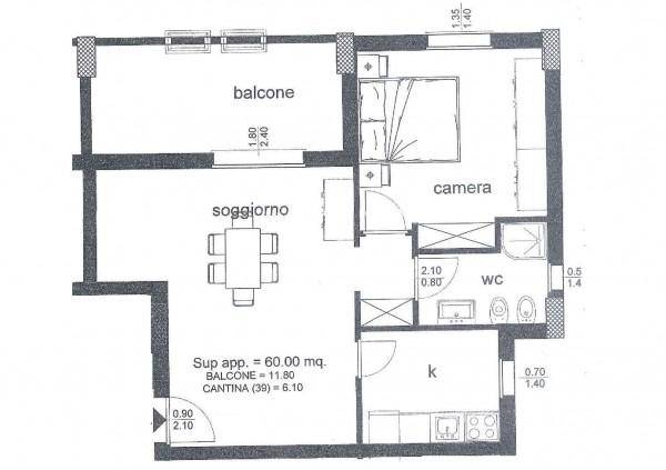 Appartamento in vendita a Roma, Ponte Di Nona - Colle Degli Abeti, Arredato, 60 mq