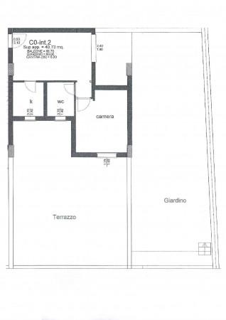Appartamento in vendita a Roma, Ponte Di Nona - Colle Degli Abeti, Arredato, con giardino, 53 mq
