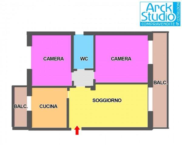 Appartamento in vendita a Cassano d'Adda, Con giardino, 100 mq - Foto 5