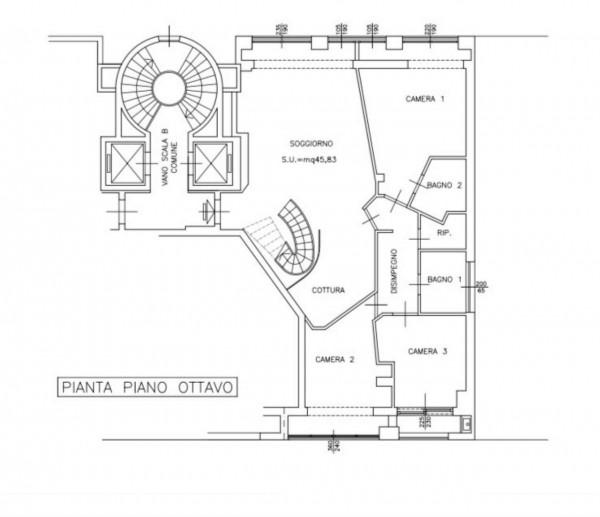 Appartamento in vendita a Milano, Porta Nuova / Garibaldi / Isola, Con giardino, 160 mq - Foto 5