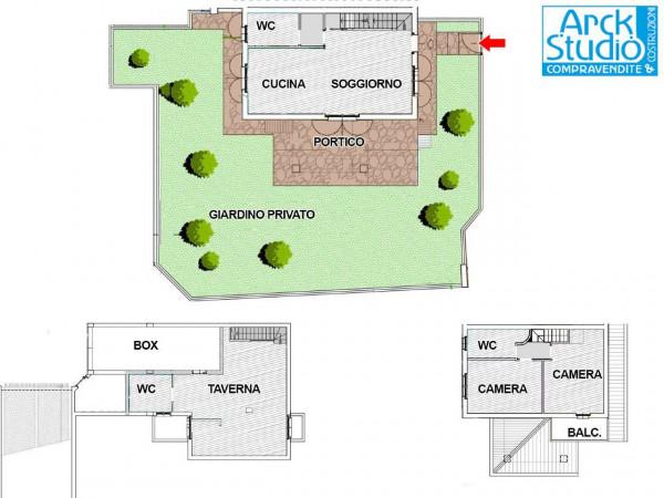 Villa in vendita a Cassano d'Adda, Groppello, Con giardino, 180 mq - Foto 2