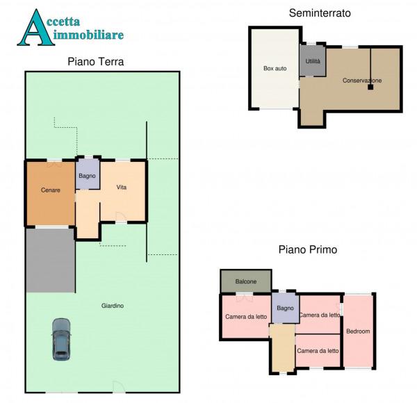 Villa in vendita a Taranto, Lama, Con giardino, 213 mq - Foto 2