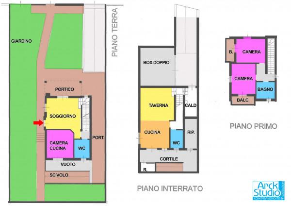 Villa in vendita a Cassano d'Adda, Groppello, Arredato, con giardino, 206 mq - Foto 2