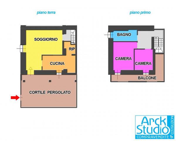 Casa indipendente in vendita a Truccazzano, Albignano, Con giardino, 105 mq - Foto 2