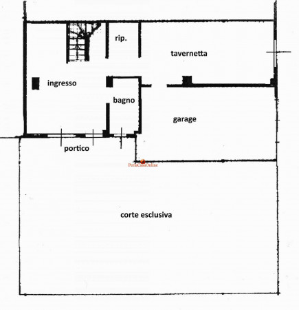 Appartamento in vendita a Dovadola, Casone, Con giardino, 180 mq - Foto 3