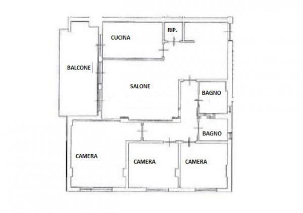 Appartamento in vendita a Roma, Ponte Di Nona - Colle Degli Abeti, 108 mq - Foto 2