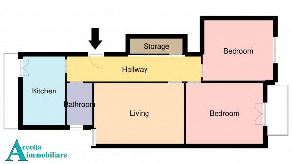 Appartamento in vendita a Taranto, Tre Carrare, Italia, Montegranaro, 97 mq - Foto 2