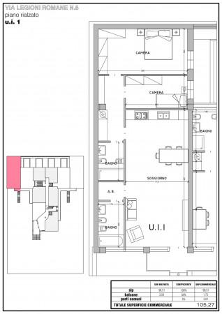 Appartamento in vendita a Milano, Bande Nere, Con giardino, 113 mq - Foto 3