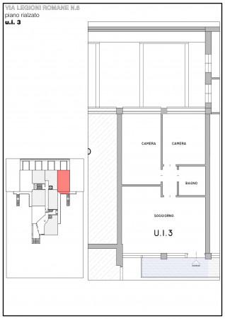 Appartamento in vendita a Milano, Bande Nere, Con giardino, 65 mq - Foto 3