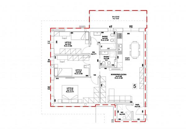 Appartamento in vendita a Forlimpopoli, 137 mq - Foto 3