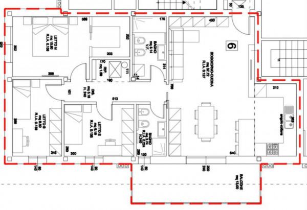 Appartamento in vendita a Forlimpopoli, San Leonardo In Schiova, 137 mq - Foto 2