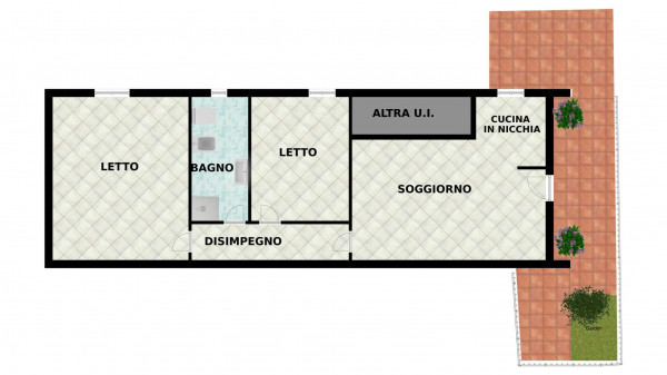 Appartamento in vendita a Forlimpopoli, Centro Storico, Con giardino, 80 mq - Foto 2