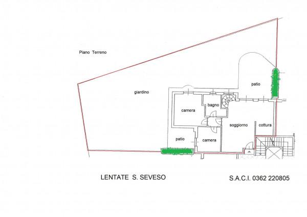 Appartamento in vendita a Lentate sul Seveso, Con giardino, 145 mq - Foto 3