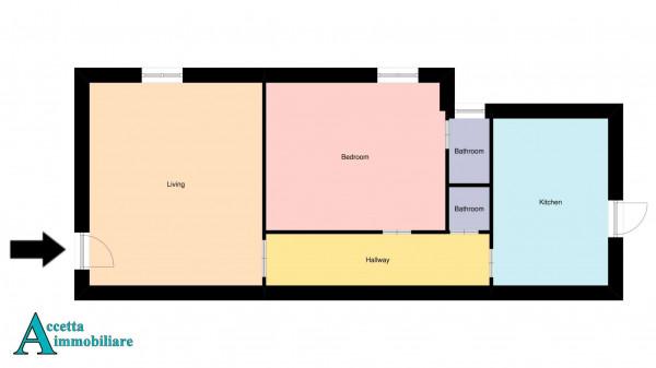 Appartamento in vendita a Taranto, Tamburi, Con giardino, 79 mq - Foto 2